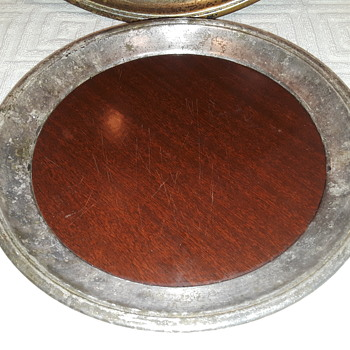 my 2nd CRESCENT silverplate/Formica serving tray?! - Silver