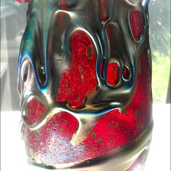 Lotton Cypriot Lava Vase - Art Glass