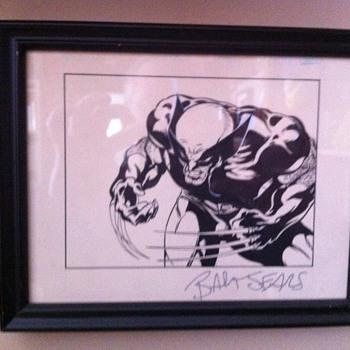 Wolverine original art piece