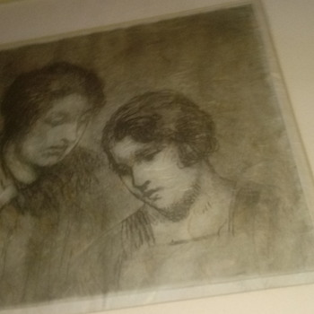 Etching two women - Posters and Prints