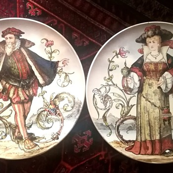 Villeroy Boch Antique Handpainted Plates~ - China and Dinnerware