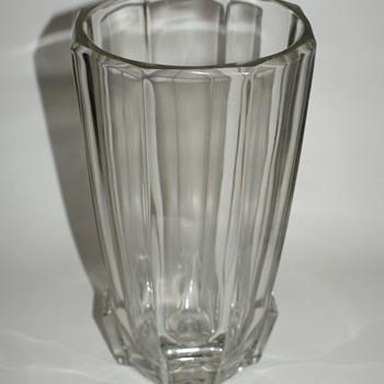 Vintage Czechoslovakian Glass Vase- Art Deco (Style) - Art Glass