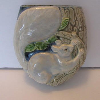 Chinese Wall Pocket with rat climbing  a branch - Asian