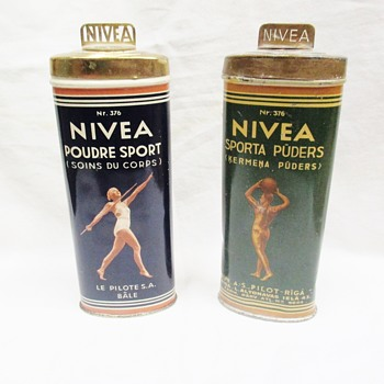 Nivea SPORT Body powder luxury tin made for Olympic Games in Berlin 1936 - Advertising