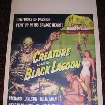 CREATURE FROM THE BLACK LAGOON - US Window Card - Movies