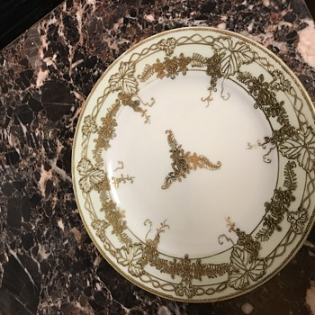 Gold painted plate