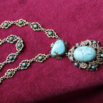 Turquoise Austro-Hungarian necklace - Fine Jewelry