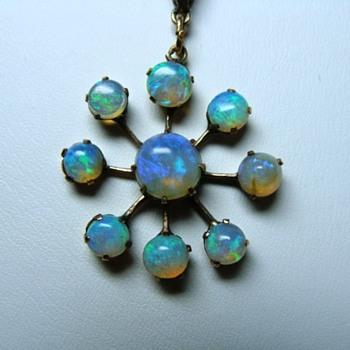 Edwardian Antique Opal Snowflake - Fine Jewelry