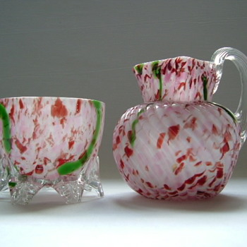 Bohemian Welz Bowl and Jug