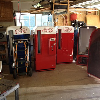 Picture of some projects in the Pop Machine Shop - Coin Operated