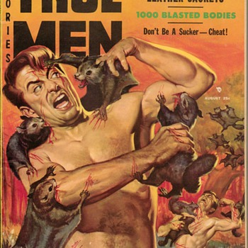 """1957 - """"True Men Stories"""" Pulp Magazine - Paper"""