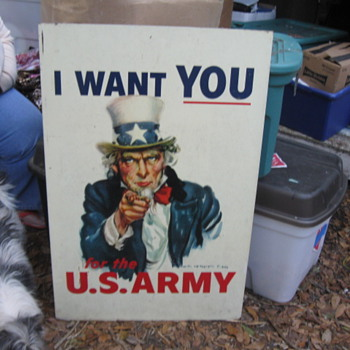 """38"""" x 22"""" Metal Uncle Sam Sign - Signs"""