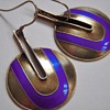 Beautiful Mid Century Sterling Earrings With Enamel~Stamped S925~Scandinavian?