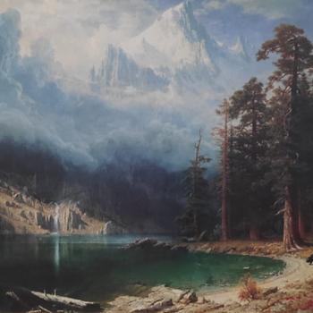 CUADRO DE ALBERT BIERSTADT - MOUNT CORCO - Fine Art