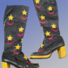 Original 1960s Gohil's of London GTAT Psychedelic Moon And Stars Go-Go Boots