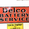 Delco battery service sign