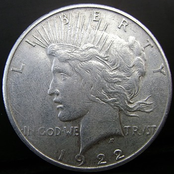 My really strange 1922-S Peace Dollar - US Coins