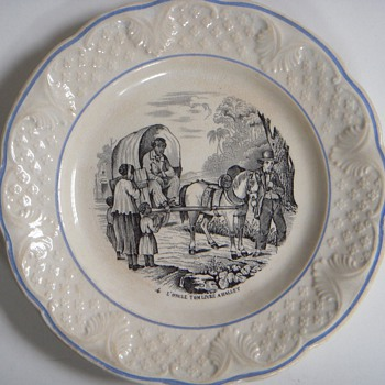 2 Antique Hautin & Boulenger 'Uncle Tom' Plates~Choisy~Age?, Beautiful&Interesting - China and Dinnerware