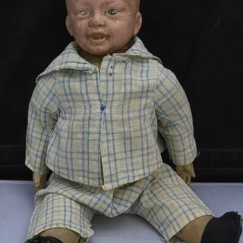 Antique German Bisque BoyBoy Doll - Dolls
