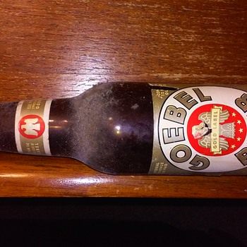 Goebel Beer Bottle...just found it in our wall. The house was built in 1943.