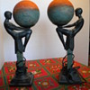 bronze marble lamps