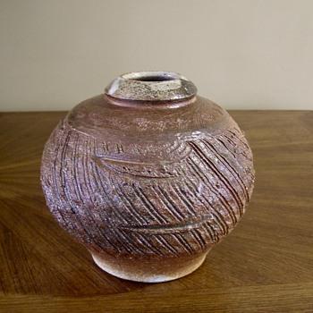 Incised globe vase with iron glaze? - Pottery
