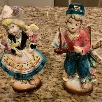 Made in Japan, Holland figurines looks like lefton. - Figurines