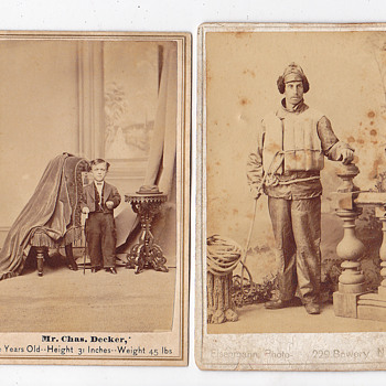 Letter to return uniform 1867, 2 cabnite cards front/back - Photographs