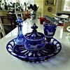 Bohemian Cobalt blue Table Set