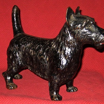 Vintage Cast Iron Scottish Terrier Doorstop - Animals