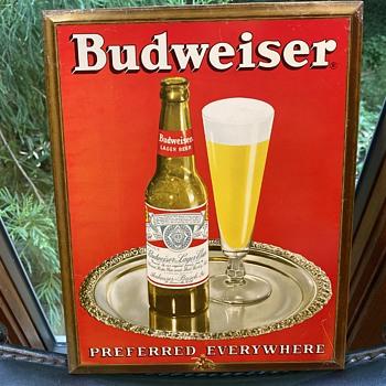 Budweiser tin sign - Breweriana