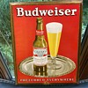 Budweiser tin sign