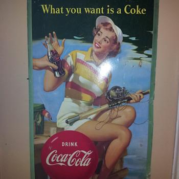Coca Coca Large Cardboard Sign - Coca-Cola