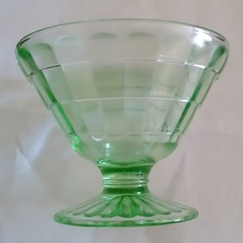 Four Green Sherbet Bowls - Glassware