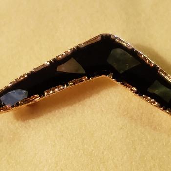 Boomerang brooch  - Art Nouveau