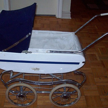Vintage Gendron METAL Baby Buggy Doll Stroller Carriage Amazing detail