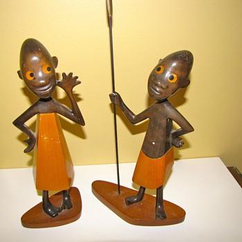 Pair of Rare Art Deco Hagenauer African Children - Art Deco