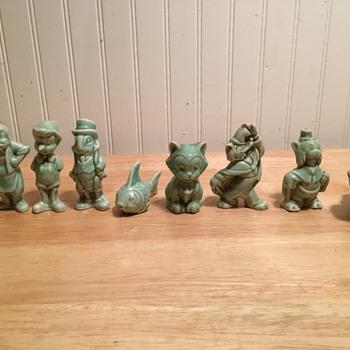 Pinocchio Porcelain Figures - 1940 - Figurines