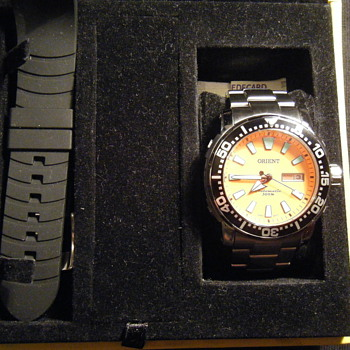 "New  Orient ""Poseidon"" automatic 469SS040 diving watchHE valve 300 m-made in Brazil - Wristwatches"