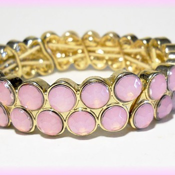 Vintage Costume Bracelet - Mark LC ?? - Costume Jewelry