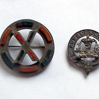 Two Mystery Sterling Pins -  - Costume Jewelry