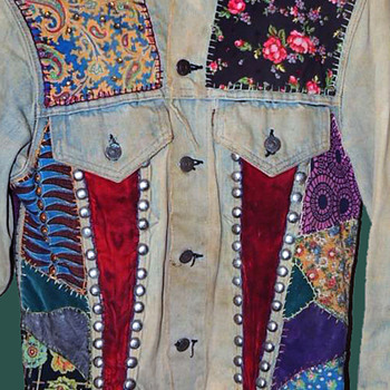 #5 ~ Original 1960s Haight Ashbury Hippie Levis Denim Jacket