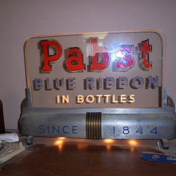 pabst blue ribbon edge lamp - Signs