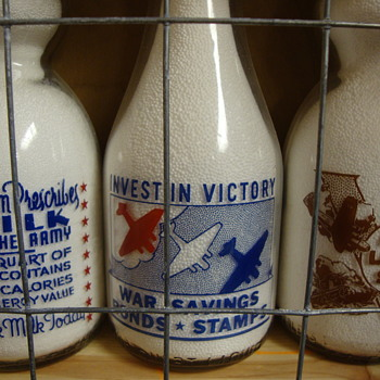 Colorful War Slogan Milk Bottles..... - Bottles