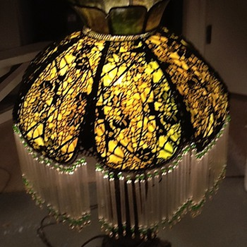 Antique lamp has been in our family for many years.