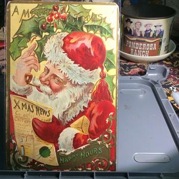 December 16, 1909 Falling Santa Cards - Christmas