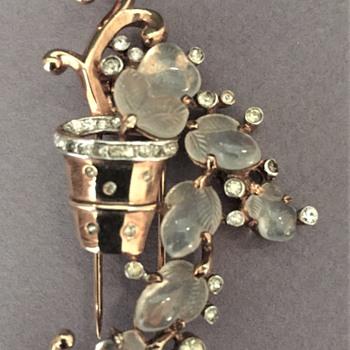 Rummage Sale Trifari Fur Clip circa 1941 - Costume Jewelry
