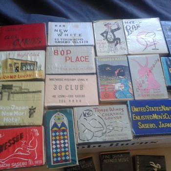 Japanese Bar Matchbooks, Sosebo Japan USN