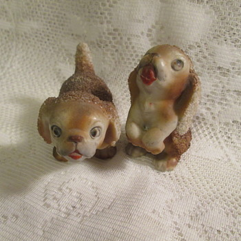 Sugar glazed cocker spaniel figurines - Figurines