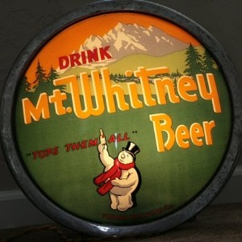 Mt. Whitney Beer Fresno Brewing Light up Globe - Breweriana